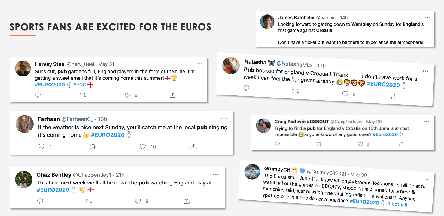 Sports fans are excited for the euros